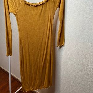 Yellow off the shoulder Bodycon dress